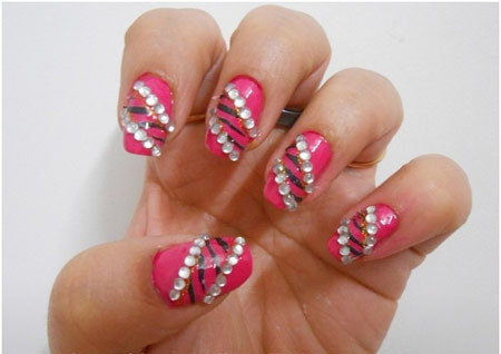 studded zebra nails