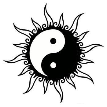 sun yin yang tattoo