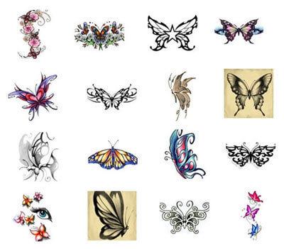 tatuaggi temporanei di farfalle