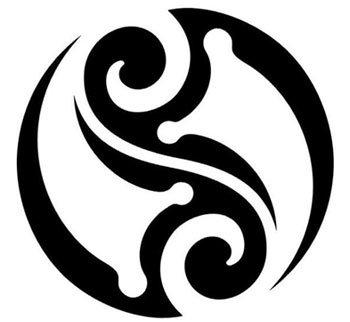 tribal yin and yang tattoo