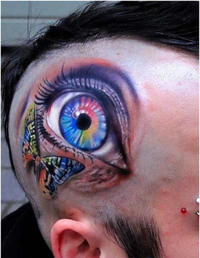 visible third eye tattoo