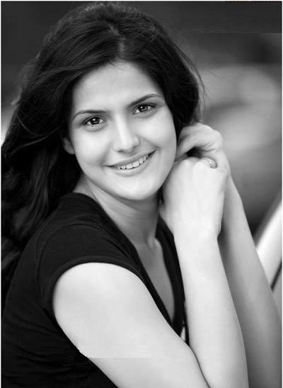 zarine khan black and white