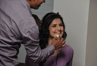 zarine khan after the shoot