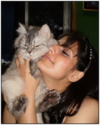 zarine khan with animal