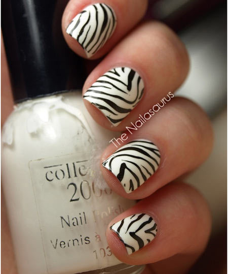 zebra nails designs