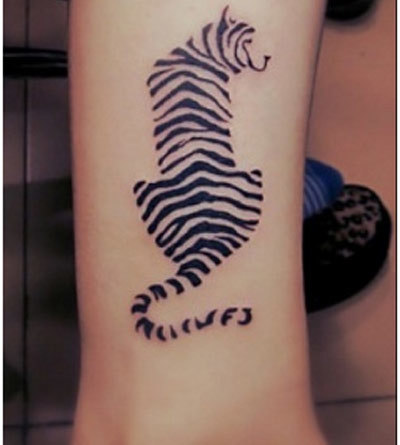 zebra stripe tattoo