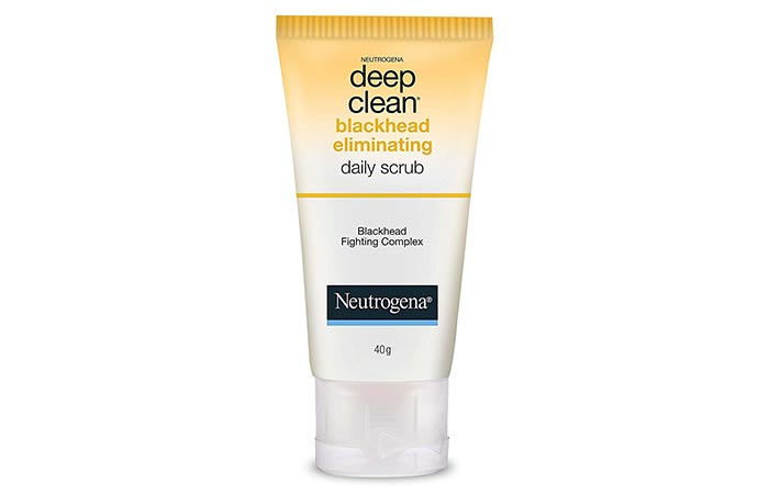 1. Neutrogena Deep Clean Blackhead Eliminating Daily Scrub