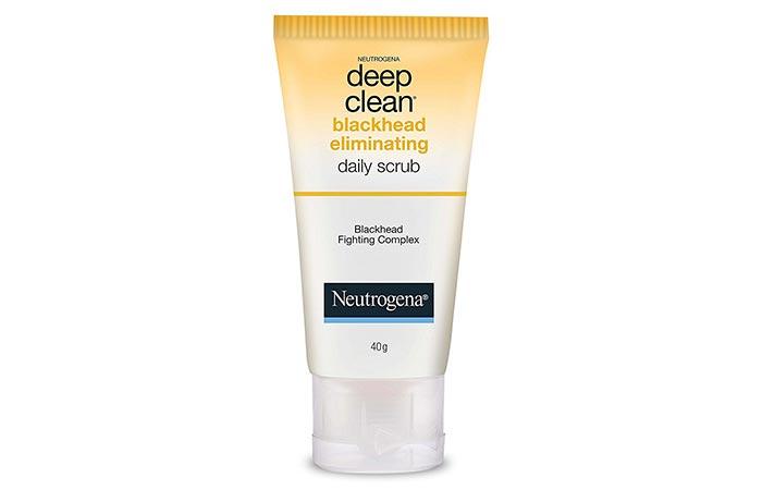 1. Neutrogena Deep Clean Blackhead Eliminating Daily Scrub
