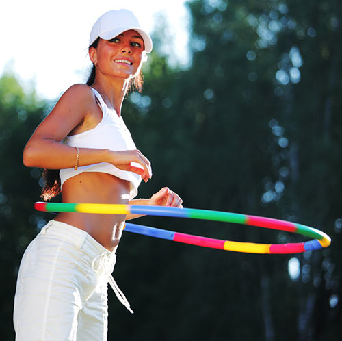 Hula Hoop Exercises - Standing Twist