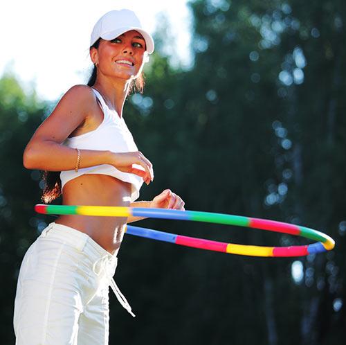 Hula Hoop Exercises - Standing Twist