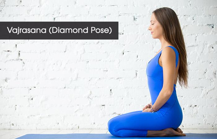 1. Vajrasana (Diamond Pose)