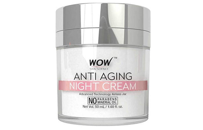 1. WOW Anti Aging Night Cream