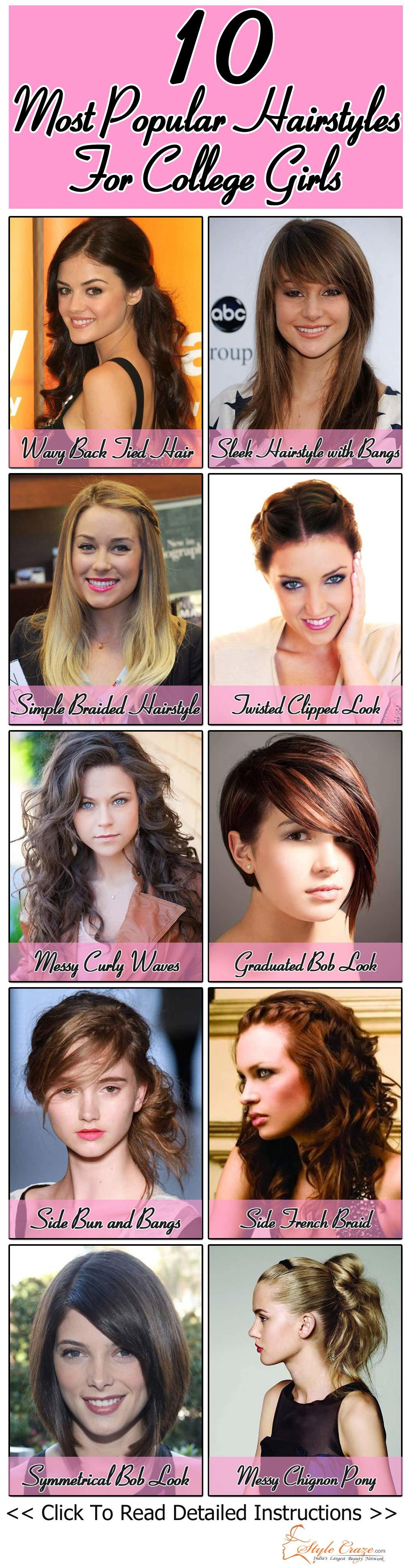 Cute Simple Hairstyles For Medium Hair College - Hairstyles By Unixcode