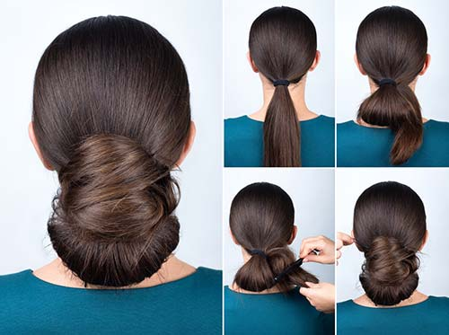 10. Elegant Twisted Bun