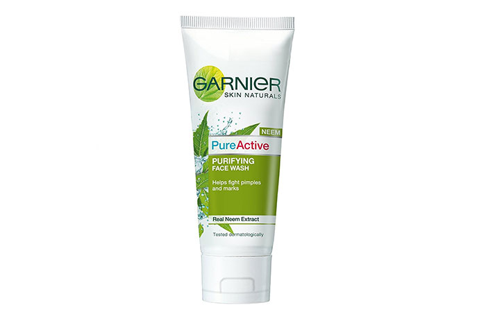 10. Garnier Skin Naturals PureActive Purifying Face Wash