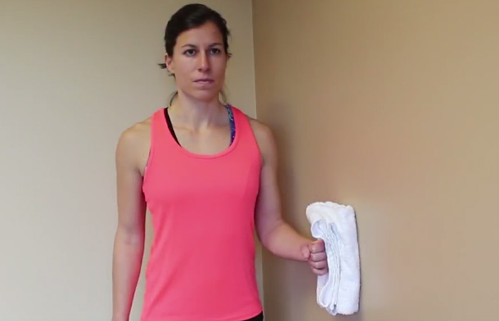 Isometric Exercises For The Shoulders - Isometric Shoulder Internal Rotation