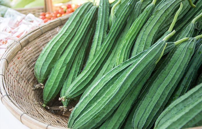 10. Ridge Gourd For White Hair