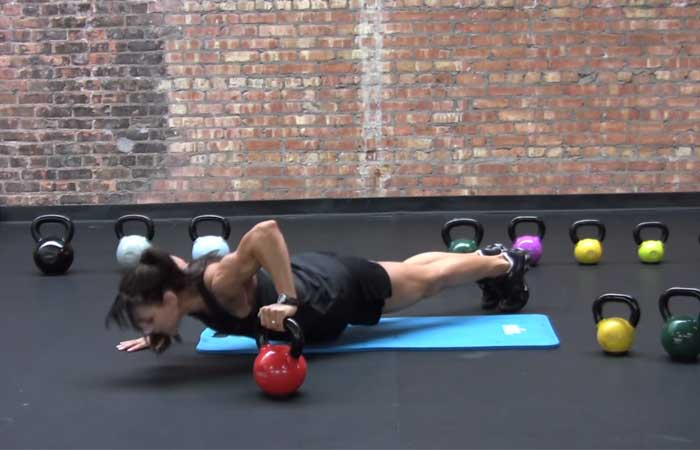 Kettlebell Exercises - Kettlebell Push-up