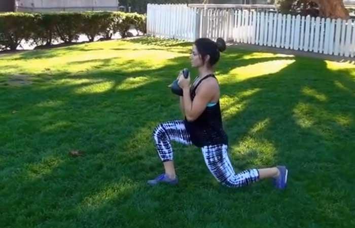 Kettlebell Exercises - Kettlebell Goblet Lunge