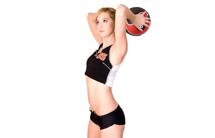 Medicine Ball Exercises For The Arms And Shoulders - Tricep Extension