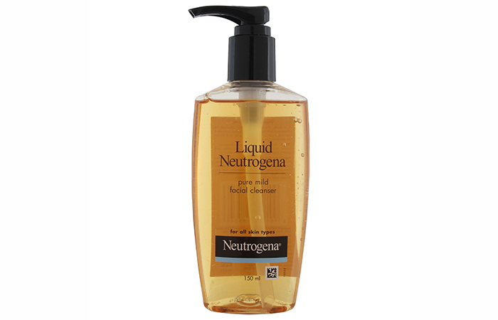 Liquid Neutrogena Pure Mild Facial Cleanser - Best Face Washes
