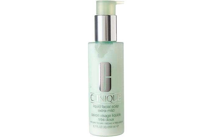 15. Clinique Liquid Facial Soap Extra Mild