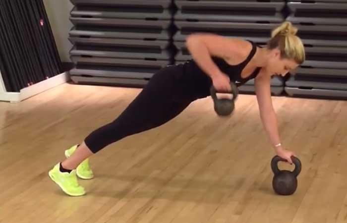15. Kettlebell Plank With Row