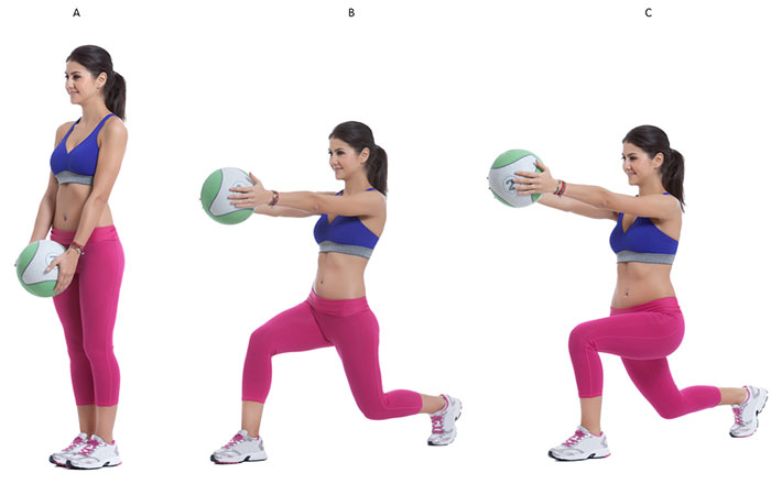 Medicine Ball Full-Body Exercises - Lunge With Twist
