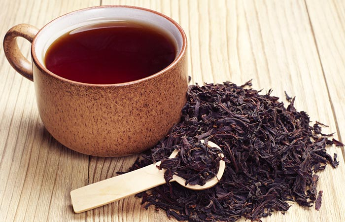 2. Black Tea For White Hair