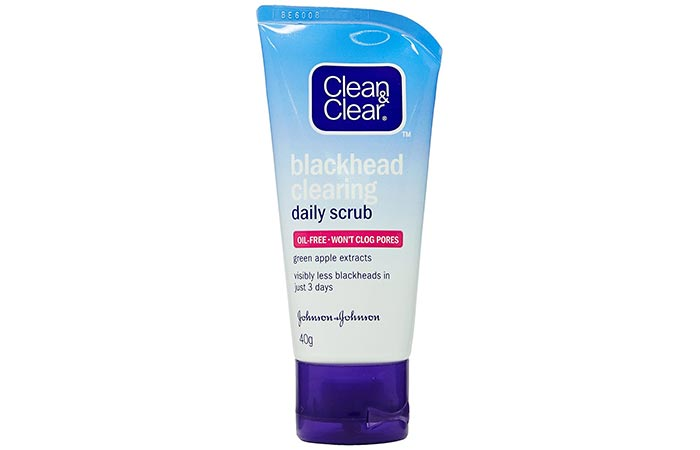 2. Clean And Clear Blackhead Clearing Daily Scrub