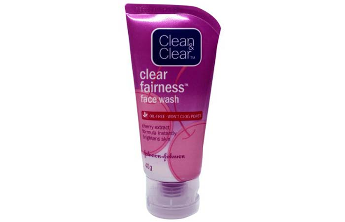 2. Clean And Clear Fairness Face Wash