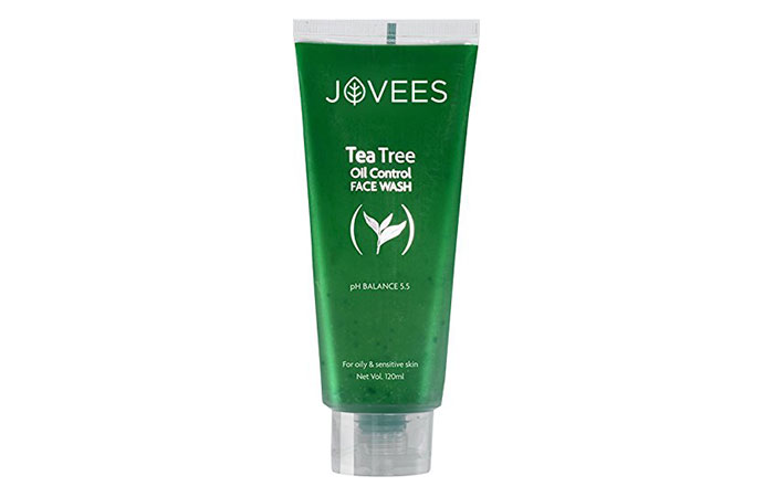 2. Jovees Tea Tree Oil Control Face Wash