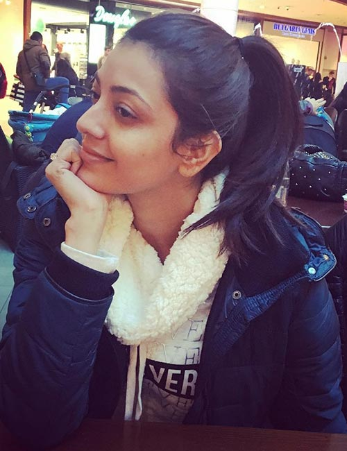 The Casual Bare-Faced Look of Kajal Agarwal