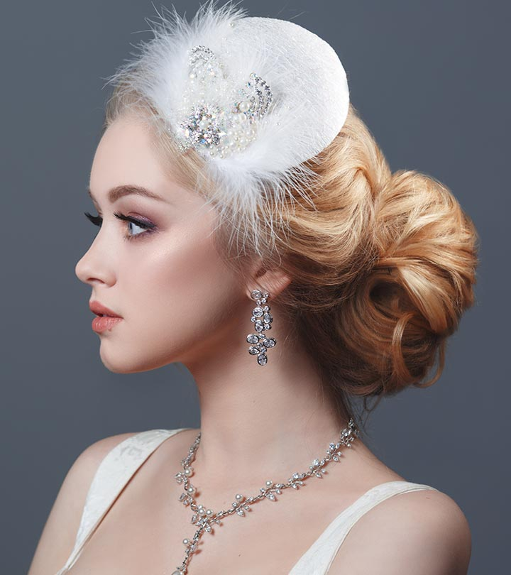 20 best hairstyles for brides with round faces 20 best hairstyles for brides with round face junglespirit Gallery