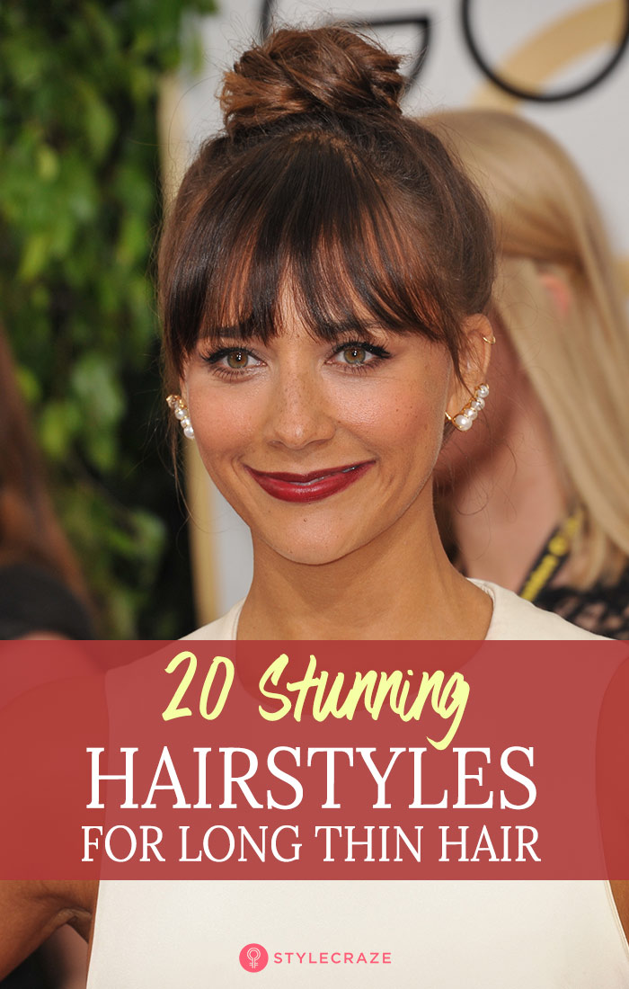 20 Terrific Hairstyles For Long Thin Hair