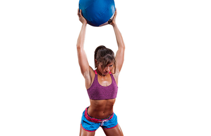 Medicine Ball Full-Body Exercises - Squat Press Throw