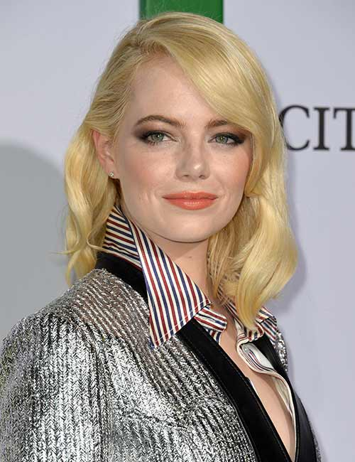 23. Blonde Hair With A Side Parting