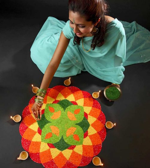 How To Draw Rangoli - 2 Simple Methods With Illustrations