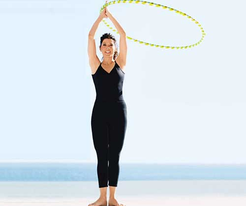 Hula Hoop Exercises - Hula Hoop Arm Circles