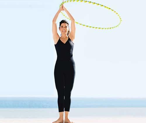 Hula Hoop Exercises - Hula Hoop Arm Circles