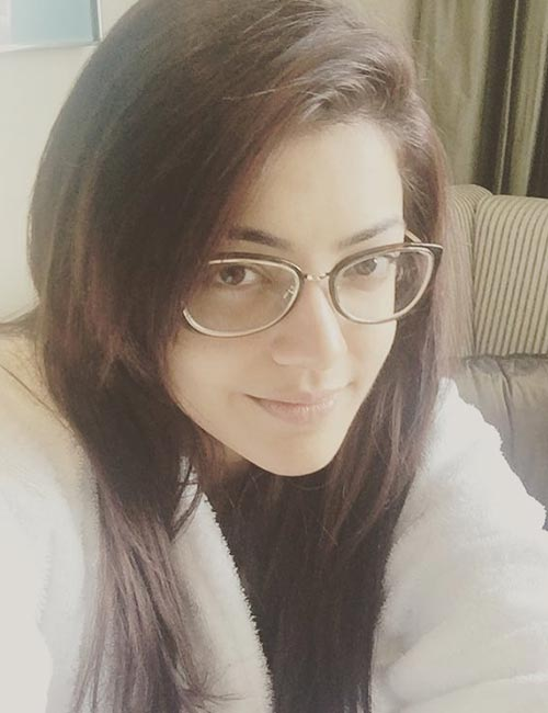 Morning Selfie of Kajal Agarwal without Makeup