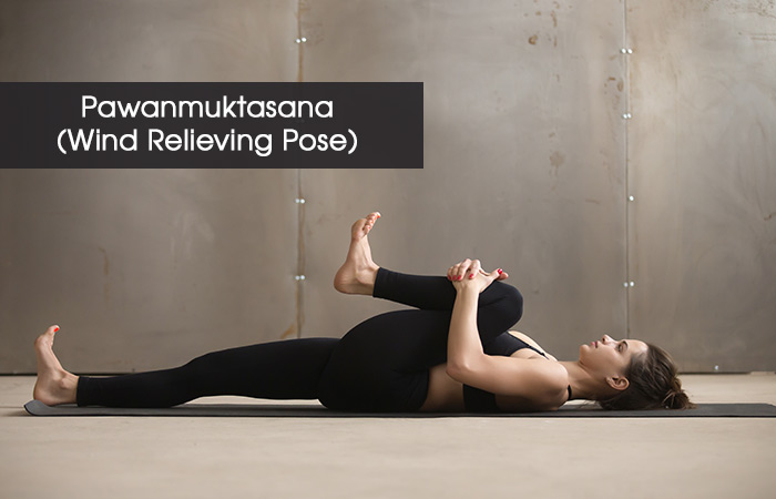 3. Pawanmuktasana (Wind Relieving Pose)