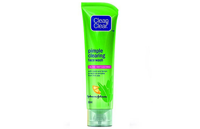 4. Clean And Clear Pimple Clearing Face Wash