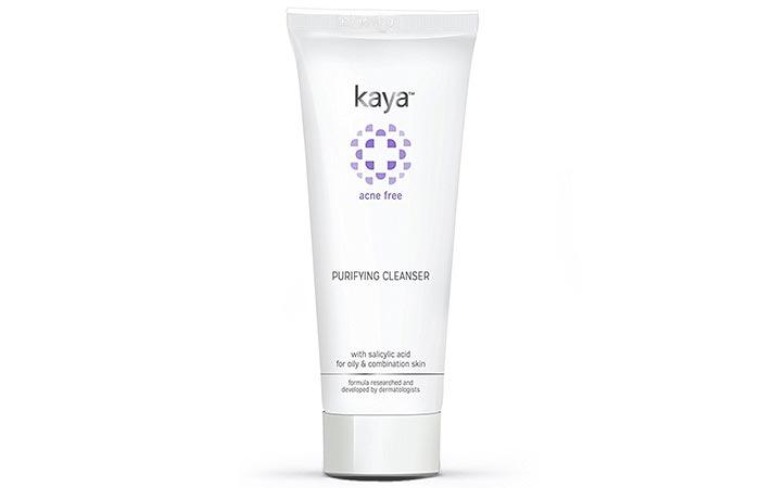 4. Kaya Acne Free Purifying Cleanser