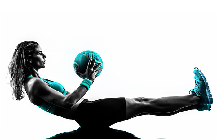 Medicine Ball Exercises - Straight Leg Sit-Up