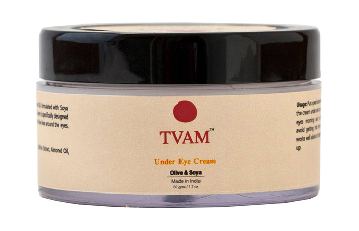 4. Tvam Olive & Soya Under Eye Cream
