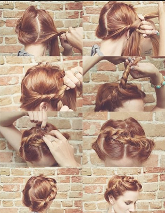 40-Stylish-Updos-For-Medium-Hair11