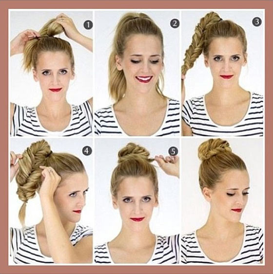 40 Stylish Updos For Medium Hair13
