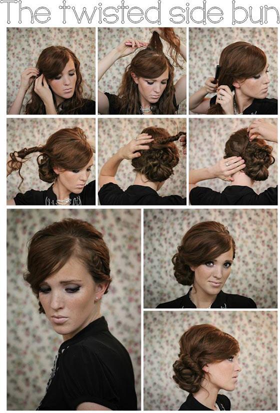 Fine 5 Simple Updos For Medium Hair Hairstyles For Men Maxibearus