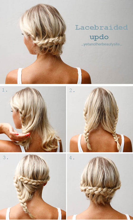 40 quick and easy updos for medium hair 40 stylish updos for medium hair27 pinit solutioingenieria Image collections